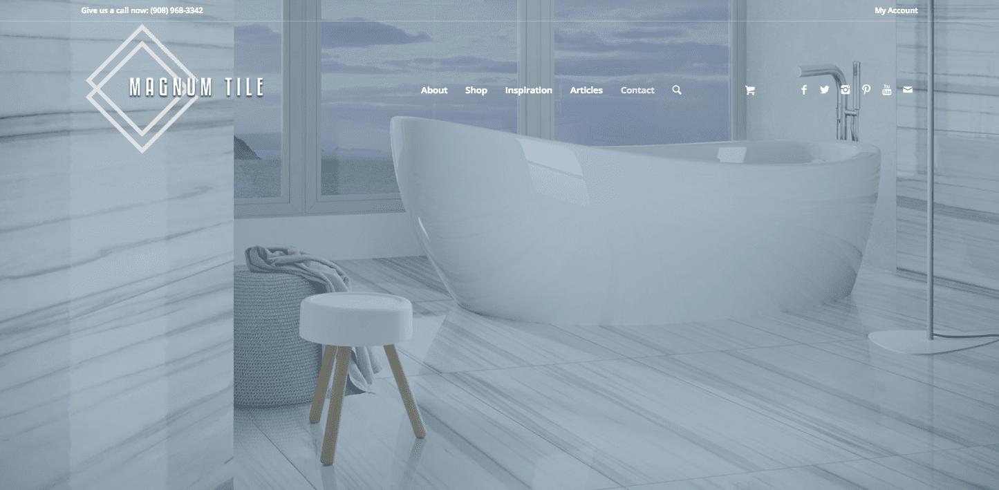 magnum tile web design