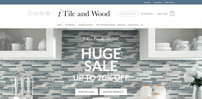 iTile and wood web design